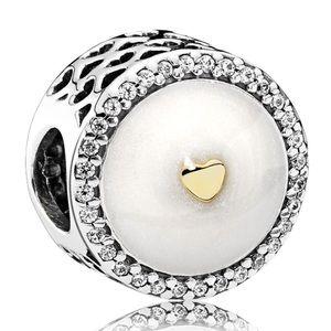 New Pandora Precious Heart Charm